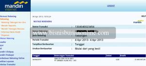 Penghasilanku di april 2013